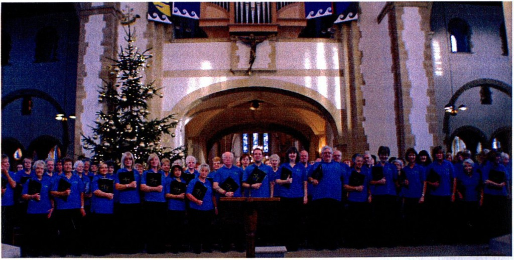 The chor at Portsmouth Cathedral for the RNLI performance